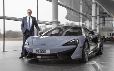 McLAREN AUTOMOTIVE SALES SURGE TO NEAR-100% INCREASE IN 2016