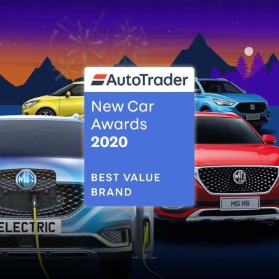 MG Named As Best Value Brand At Auto Trader New Car Awards 2020