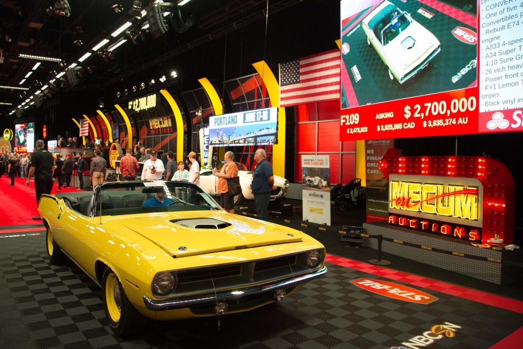 MULTI-MILLION DOLLAR MUSCLE CARS DOMINATE DAY 8 AT MECUM KISSIMMEE 2016
