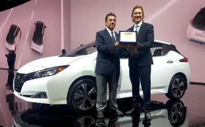 Nissan Leaf Receives Award For 2018 FIPA Green Car Of The Year