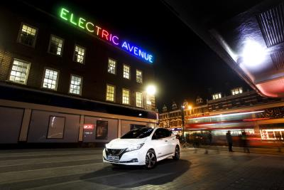New Nissan Leaf Turns Up The Charge At Electric Avenue