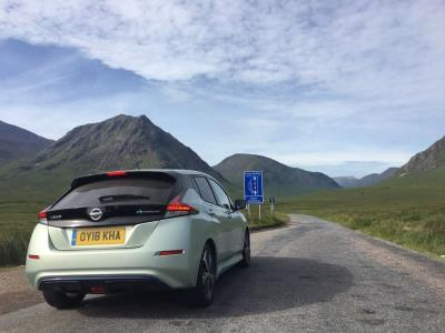 New Nissan Leaf Takes Charge On The Three Peaks Challenge