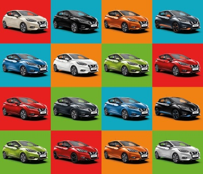 Back To Black : Nissan Reveals Changing Face Of Micra Colour Choices