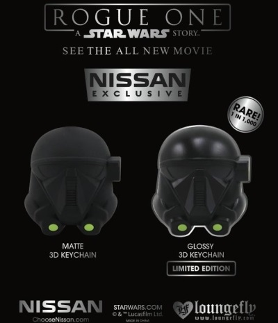 NISSAN OFFERS EXCLUSIVE ROGUE ONE: A STAR WARS STORY KEYCHAINS AT DEALERS NATIONWIDE