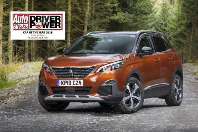 Peugeot 3008 SUV Wins Gold In Car Of The Year Category In The Auto Express Driver Power Survey