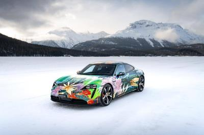 Porsche And RM Sotheby's To Auction Unique Taycan Artcar For Charity