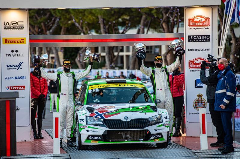 Rallye Monte-Carlo: ŠKODA AUTO Motorsport supported Andreas Mikkelsen wins WRC2