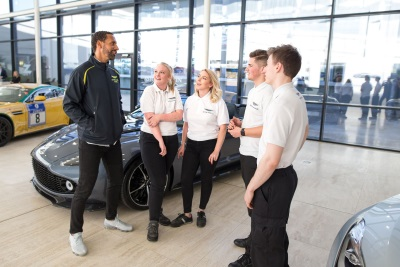 Rio Ferdinand Joins The Aston Martin Squad