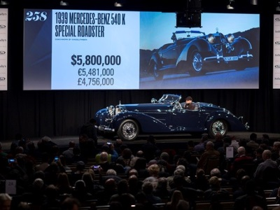 RM Sotheby's Continues its Track Record as the Market Leader for High End Collector Cars with $53.8 Million Arizona Auction