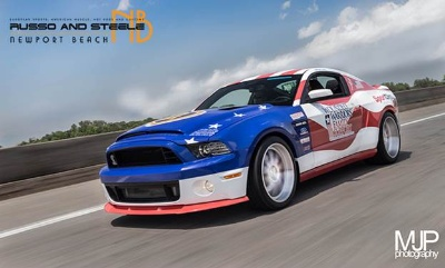 Patriotic 2013 Shelby Supersnake to be Sold in Support of the Wounded Warrior Program's Family Support Fund at Russo and Steele Newport Beach Auction