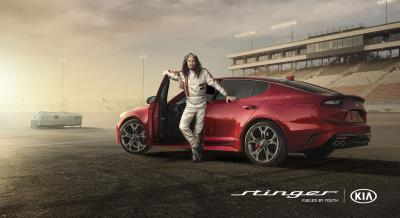 Steven Tyler And Emerson Fittipaldi Hit The Racetrack In Kia Motors' Super Bowl Ad For The All-New Stinger Sportback