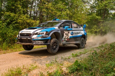 SUBARU DRIVER DAVID HIGGINS OVERCOMES ADVERSITY TO WIN OJIBWE FORESTS RALLY AND REMAIN UNDEFEATED IN 2015