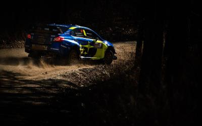 Subaru and Travis Pastrana take second consecutive win at 100 Acre Wood Rally