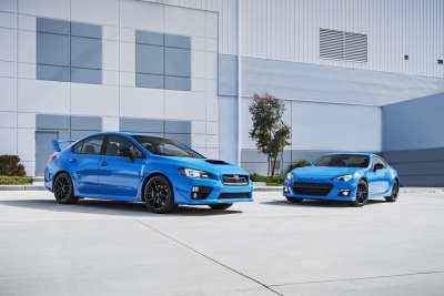 SUBARU ANNOUNCES PRICING ON LIMITED EDITION 2016 SERIES.HYPERBLUE BRZ AND WRX STI MODELS