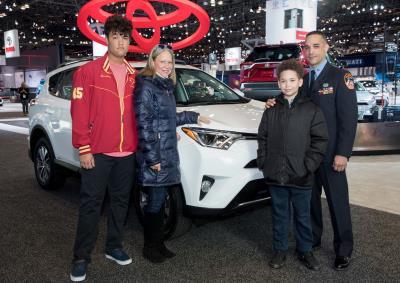 Toyota Donates RAV4 Hybrid To Gulf War Veteran, Fema Hero