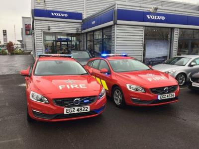 Volvo Car UK Supplies Northern Ireland Fire And Rescue With 15 V60 Response Cars
