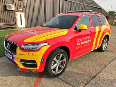 Volvo XC90 Becomes Ground Response Car Of Choice For Essex And Herts Air Ambulance