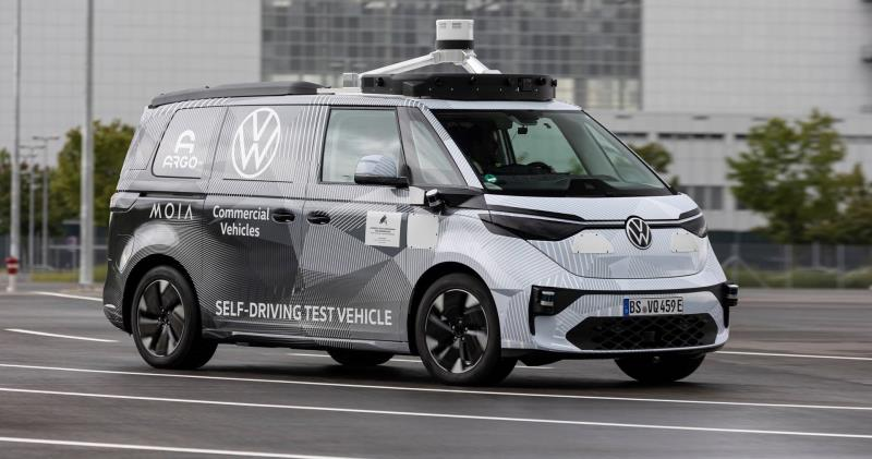 Volkswagen Commercial Vehicles, Argo AI and MOIA show first ID.BUZZ prototype for autonomous driving