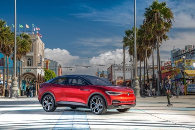 Striking I.D. Crozz Concept Vehicle Previews Volkswagen's New Compact Electric SUV, Due To Launch In 2020