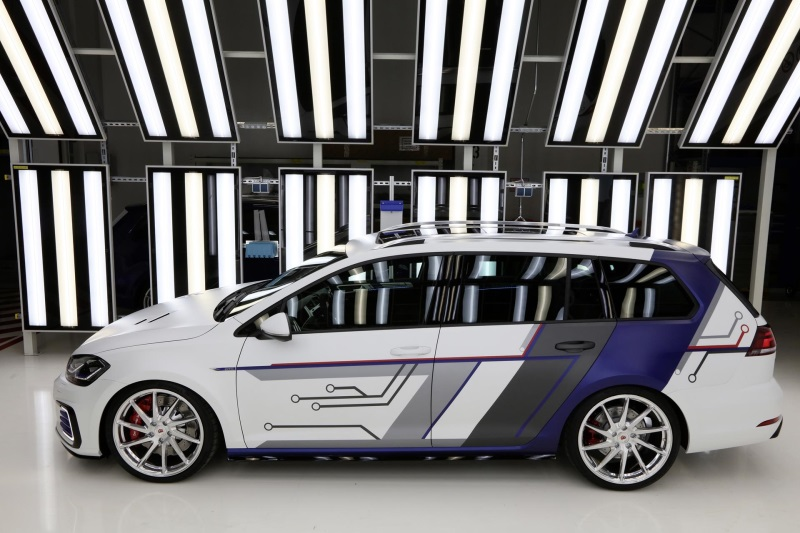Wolfsburg Apprentices Present First GTi That Also Features Electric Drive System At Wörthersee Meeting