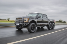 Hennessey VelociRaptor 6X6 Unleashed at the 2017 SEMA Show