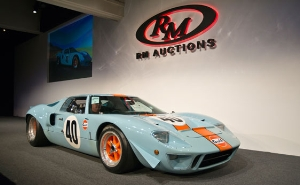 GT40 Gulf/Mirage Lightweight Racing Car Brings Record $11 Million At RM's Friday Monterey Sale