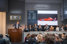 Michael Schumacher Monaco Grand Prix-winning Ferrari F2001 Sells for Record $7,504,000 at Sotheby's Contemporary Art Evening Sale
