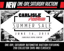 Carlisle Auctions Expands its Schedule with New Auction Date in June