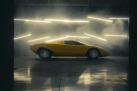 The reconstruction of the first Lamborghini Countach