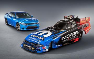 Wicked Fast: Mopar And Dodge//SRT Debut New Dodge Charger SRT Hellcat NHRA Funny Car