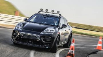 Porsche begins on-road development testing for the future all-electric Macan
